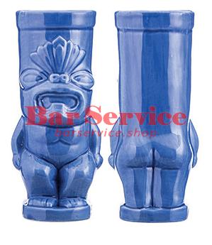 "Стакан д/коктейлей ""Тики"";керамика 450мл,  голуб. в Калуге"