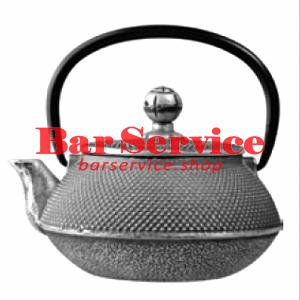 Чайник с ситечком; чугун; 650мл; D=8.7,H=9.4,L=14.5см черный в Калуге