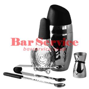 Набор барменский 5 предметов, черный  в Калуге